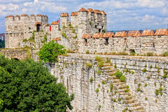 Yedikule Castle in Istanbul Stock Photo