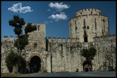 Yedikule dungeons; Istanbuł i Turcja jesteśmy jeden stary otwieramy Zdjęcia Stock