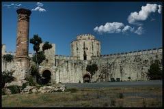 Yedikule dungeons; Istanbuł i Turcja jesteśmy jeden stary otwieramy Zdjęcie Stock
