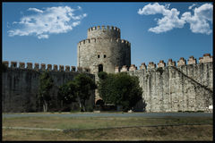Yedikule dungeons; Istanbul and Turkey is one of the oldest open Royalty Free Stock Photo