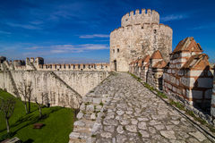 Yedikule fortress in Instanbul Royalty Free Stock Image