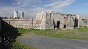 Yedikule fortress in Instanbul stock video footage