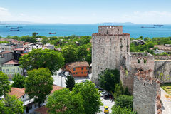 The Yedikule Fortress in Istanbul, Turkey Royalty Free Stock Photos
