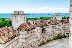 The Yedikule Fortress in Istanbul, Turkey Royalty Free Stock Image