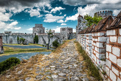 Yedikule Fortress in Istanbul, Turkey Royalty Free Stock Images
