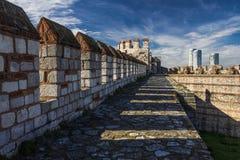 Yedikule Hisarlari (fortaleza) de sete torres Istanbu Fotos de Stock