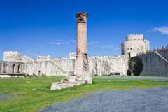Yedikule Hisarlari (Seven Towers Fortress) Istanbu Royalty Free Stock Photography