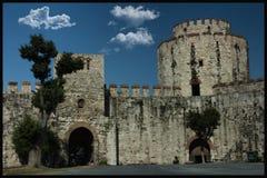 Yedikule-Kerker; Istanbul und die Türkei ist eins von den ältesten sich öffnen Stockfotos