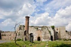 Yedikule slott i Istanbul Arkivbilder