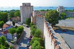 Yedikule (una fortezza) delle sette torrette Costantinopoli Immagini Stock Libere da Diritti
