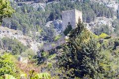 Yedra slott i Cazorla, Jaen, Spanien Royaltyfria Bilder