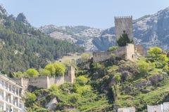 Yedra slott i Cazorla, Jaen, Spanien Arkivbilder