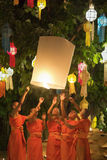 Yee彭节日在清迈泰国 免版税图库摄影