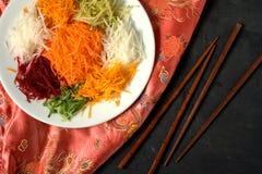 Yee Śpiewał chińskie jedzenie Fotografia Royalty Free