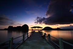 yee Таиланда лотка острова Стоковое Изображение RF