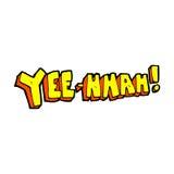 yee hah! desenhos animados cômicos Foto de Stock Royalty Free