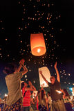 Yee Peng Festival alla provincia di Chiangmai, Tailandia Immagini Stock Libere da Diritti