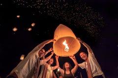 Yee Peng Festival alla provincia di Chiangmai, Tailandia Fotografia Stock Libera da Diritti