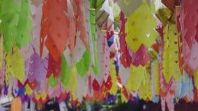 Yee Peng Festival Yi Peng Chiang Mai. Paper lanterns decorated in downtown,Chiang Mai ,Thailand