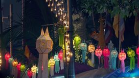 Yee Peng Festival  Chiang Mai. Paper lanterns decorated on Tha-Phae road ,Chiang Mai