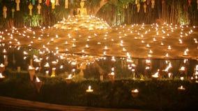 Yee-Peng festival, Chiangmai, Thailand stock video