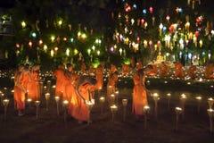 Yee-Peng festival i Chiang Mai Thailand Arkivfoto