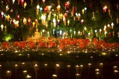 Yee-Peng festival i Chiang Mai Thailand Royaltyfri Bild