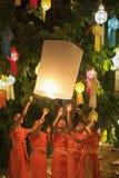 Yee-Peng festival i Chiang Mai Thailand Royaltyfri Fotografi