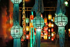 Yee Peng lantern festival in Chiang Mai Thailand. Buddha at Yee Peng lantern festival Chiang Mai Thailand Stock Image