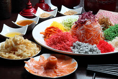 Yee Sang. A Chinese new year celebration dish Stock Photo