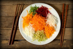 Yee Sang. chinese food Royalty Free Stock Photo