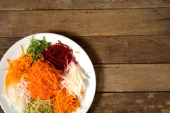 Yee Sang. chinese food Stock Photo