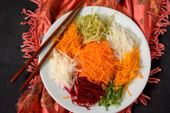 Yee Sang. chinese food Stock Images