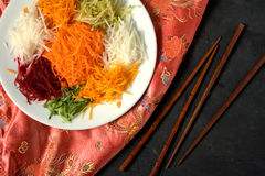 Yee Sang. chinese food Royalty Free Stock Photography