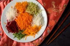 Yee Sang. chinese food Royalty Free Stock Photography
