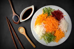 Yee Sang. chinese food Stock Image