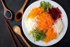 Yee Sang. chinese food Stock Photos