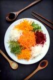 Yee Sang. chinese food Royalty Free Stock Photos