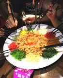 Yee Sang for Lunar New Year stock photo
