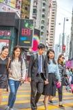 Yee Wo街道的人们 免版税库存图片