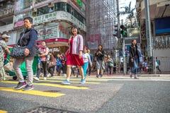 Yee Wo Street Crosswalk Royalty Free Stock Photography