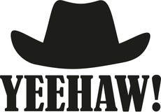Yeehaw with western hat. Vector Stock Image