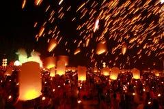 Yeepeng, Chiang Mai, festival de Tailandia Imagen de archivo libre de regalías