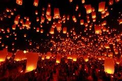 Yeepeng, Chiang Mai, festival de Tailandia Imagenes de archivo
