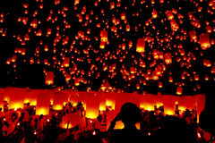 Yeepeng, Chiang Mai, Thailand festival Stock Image