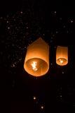 Yeepeng Firework Festival in Chiangmai Stock Image