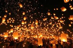 Yeepeng tradizionale alla notte Fotografia Stock Libera da Diritti
