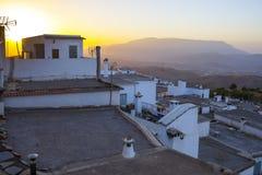 Yegen all'aumento nelle montagne di Alpujarras, Granada, Spagna Immagine Stock Libera da Diritti