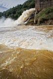 Yeguas的水坝的溢洪道 免版税图库摄影