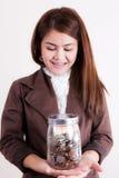 Yeh! My Saving.. Stock Image